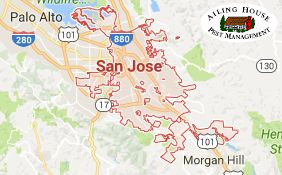San Jose - Ailing House Pest Management Inc. - Termite Inspection - Fumigation - Map - Logo