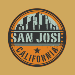 41663318 - stamp or label with name of san jose, california
